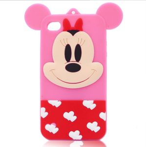 3D Cute Cartoon Mickey Minie Silicone Soft Phone Case for iPhone 6splus 7plus (XSD-069)