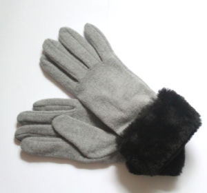 Lady Fashion Wool Nylon Knitted Winter Warm Dress Gloves (YKY5469-3) pictures & photos