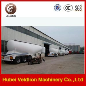 V Shape 3 Axles 60tons Cement Powder Tank Semi-Trailer pictures & photos