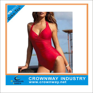 Fashionable Blank Red Woman Swimsuit for Wholesale pictures & photos