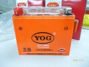 Yog Motorcycle Spare Parts Gel Battery Ytx12-BS Gel pictures & photos