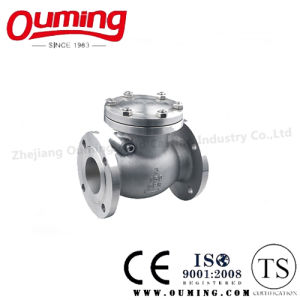 JIS Standard Stainless Steel Flanged Check Valve pictures & photos