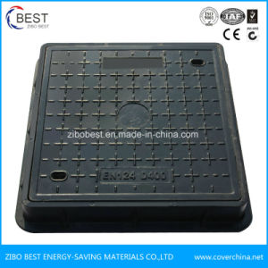 D400 Square Composite Vented Manhole Coveith with Handled pictures & photos