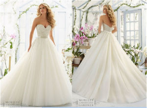 2016 New Hot-Selling Bra Bride A-Line Wedding Dress, Customized pictures & photos