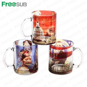 Glossy Effect Sublimation Glass Mug, Glass Mug with Sublimation Coating pictures & photos