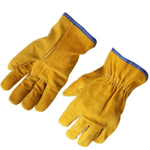 Cow Split Leather Drivers Working Gloves for Driving pictures & photos