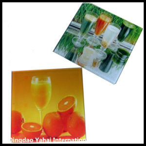 4mm Set of Clear Float Glass Coaster pictures & photos