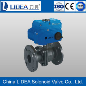 Hot Sale Flange Type Electric Floating Ball Valve for Water Treatment