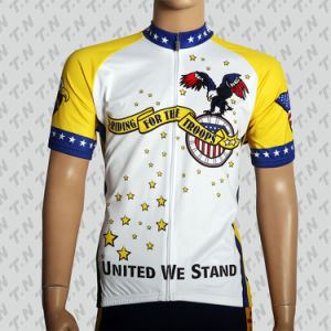 China Custom Printed College Cycling Jersey pictures & photos
