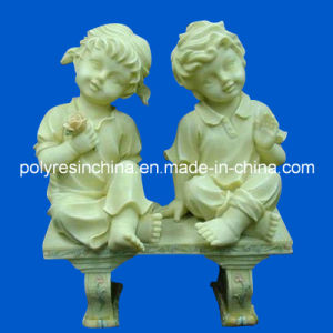 Polyresin Boy and Girl Statue Crafts for Garden Decoration pictures & photos