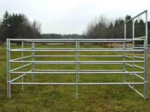 5 Rails Galvanized Welded CNC Machinery Sheep Fence Customized Farm Work pictures & photos