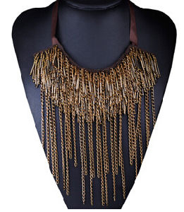 Long Tassel Chain Full Necklace (XJW13705) pictures & photos