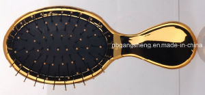 Electroplating Hair Brush with Rubber Pad and Nylon Pin pictures & photos