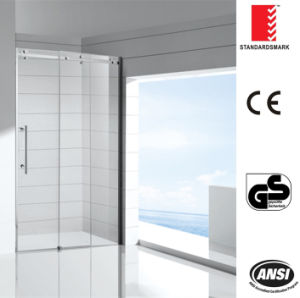 Big Roller Sliding Shower Screen with Double Toughen Glass pictures & photos