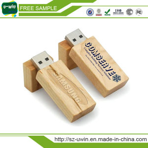 4GB Memory Bulk Engrave Logo Wooden USB Flash Drives pictures & photos