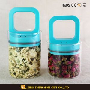 Kitchenware Container Food Storage Glass Jar with Plastic Lid pictures & photos