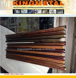 Furniture/Decorative Tube Wood Grain Powder Coated pictures & photos