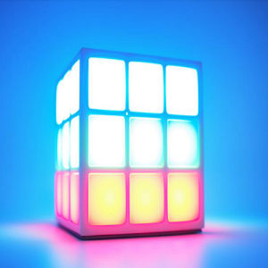 Factory Price New Products 4 Surface LED Light Rubik′s Cube Bluetooth Speaker Mini Sport Wireless Bluetooth Speaker