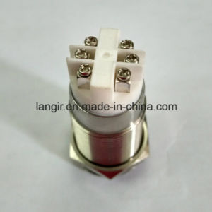 19mm White 12V DOT LED Self-Locking Electric Door Switch pictures & photos