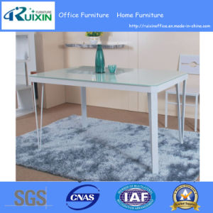 Hot Sale Customized Glass Desktop Dining Table (RX-C1007)