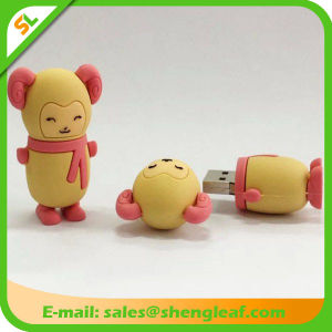 Fashionable Customized Rubber USB Flash Drive for Promotion (SLF-RU004) pictures & photos