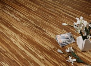 Tiger Strand Woven Bamboo Flooring UV Lacquer pictures & photos
