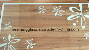 5mm White Flower Printing Tempered Glass for Decoration Glass pictures & photos