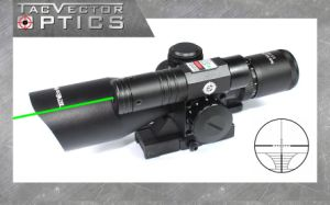 Vector Optics Sideswipe 2.5-10X40 Compact Hunting Quick Release Green Laser Rifle Scope pictures & photos