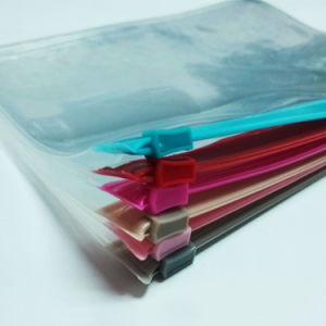 China Wholesale Clear PVC Ziplock Document Bag with Pocket pictures & photos