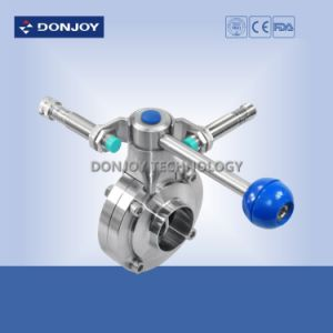 Sanitary Ss 304 Manual Pull Handle Butterfly Valve with Position Sensor pictures & photos