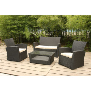 Soft Cushion Lounge Sofa Set Coffee Table Rattan Outdoor Furniture pictures & photos