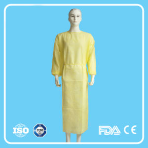 PP Non-Woven Disposable Hospital Isolation Gown with Elastic Cuffs pictures & photos