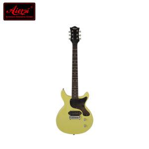 Stock Wholesale Double Cutway Flat Junior Lp Electric Guitar pictures & photos
