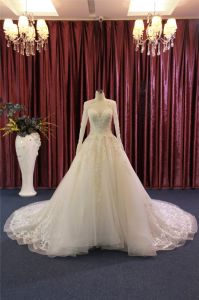 Long Sleeve Beading Ball Bridal Wedding Dress pictures & photos