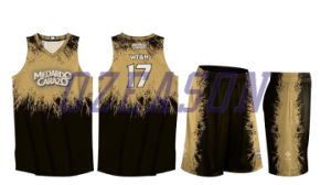 Design Fashion Breathable Polyester Mens Fitness Sublimated Basketball Wear (BK035) pictures & photos