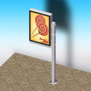 Aluminum Lamp Pole Light Boxmetal Mupi Advertising Light Box pictures & photos