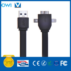 8pin+30pin+Mini USB to USB 3.0 Flat USB Cable pictures & photos