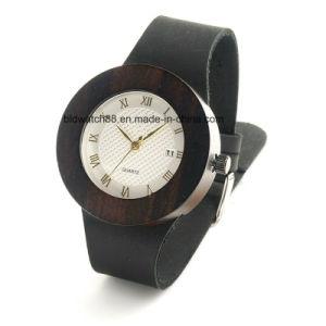 Best Sale Simple Design Analog Quartz Gents Wood Face Wrist Watches pictures & photos