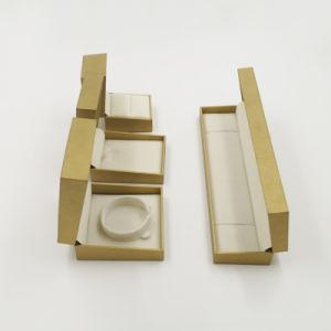 Flock Flocking Satin Leatherette Paper Gift Box (J61-E2) pictures & photos