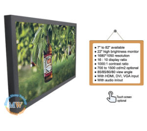 High Brightness 22 Inch TFT HDMI Display with VGA DVI (MW-222MBH) pictures & photos