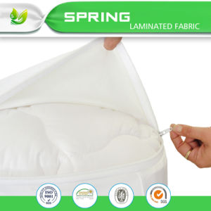 Unbleached Cotton Mattress Cover, Twin Extra Long, Zips Around The Mattress/ Encasement Style pictures & photos