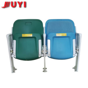 Blm-4651 Plastic Chairs for Sale Used Stadium Seats with Metal Legs White Folding Blue Public Seating pictures & photos