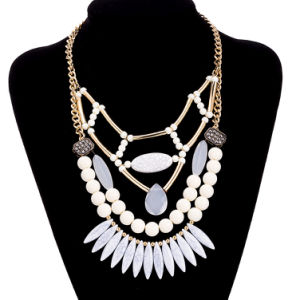 Bohemian Style Beaded Pendant Necklace Gold Plated Artificial Jewelry pictures & photos
