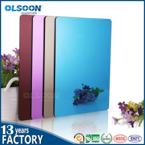 Olsoon 0.8-6mm Thickness Golden Acrylic Mirror Sheet Plastic PMMA Sheet pictures & photos