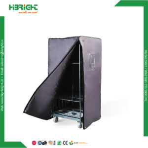 Folding Transport Roll Container with Plastic Base pictures & photos