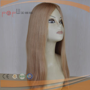 Blonde Brazilian Hair Skin Top Women Wig (PPG-l-0941) pictures & photos