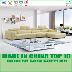 Living Room Sectional Genuine Leather L Shape Sofa pictures & photos