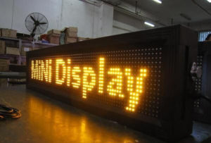 LED Digital Billboard P10 Outdoor Single Yellow LED Lighting pictures & photos