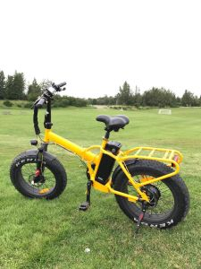 Big Power High Speed Fat Tire 4.0 Snow Beach Electric Foldable Bicycle pictures & photos