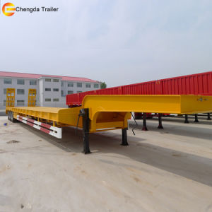 China New 3 Axles Detachable Gooseneck Low Bed Trailer pictures & photos